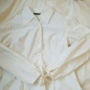 Zara Basic From Paris Cream Blouse